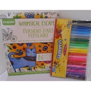 HALLMARK Crayola ESCAPES COLOR Book MARKERS